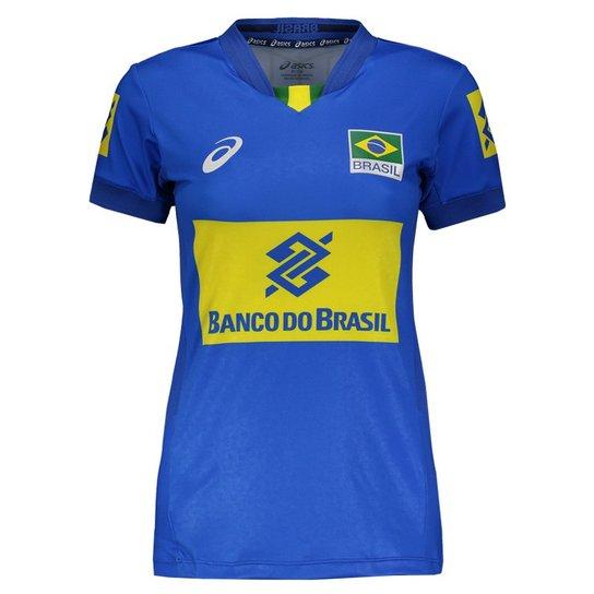 Camisa Asics Brasil Vôlei CBV 2017 Feminina - Compre Agora  e7773f68355be