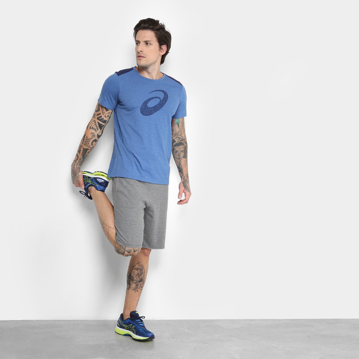 Camiseta Asics Workout Spiral SS Masculina - 2