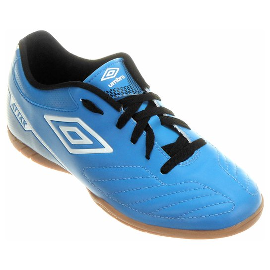 Chuteira Futsal Umbro Attak 2 Masculina - Azul e Preto - Compre ... 6d8f919d82f44