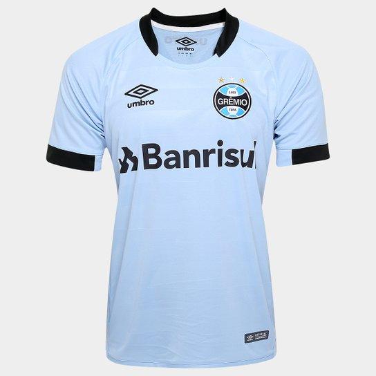 85c1356928 Camisa Grêmio II 17/18 s/nº - Jogador Umbro Masculina - Azul Claro e ...