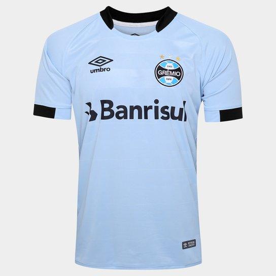 Camisa Grêmio II 17 18 s nº Torcedor Umbro Masculina - Azul Claro ... 5a73f159ace1a