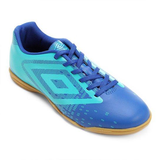 5d960f07bbb7b Chuteira Futsal Umbro Flux Masculina - Azul - Compre Agora