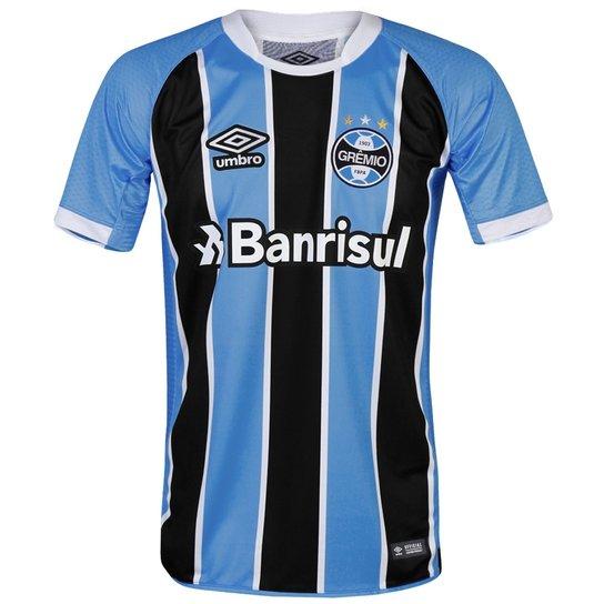 b93d9a5ee8 Camisa Umbro Masculina Grêmio Oficial I 2017 Game Jogador - Compre ...