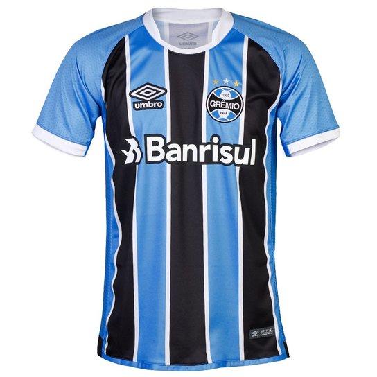 96fa3e1cb Camisa Umbro Masculina Grêmio Oficial I 2017 Fan Torcedor - Compre ...