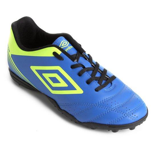 Chuteira Society Umbro Striker IV - Azul e Preto - Compre Agora ... bdebd15edc8a3