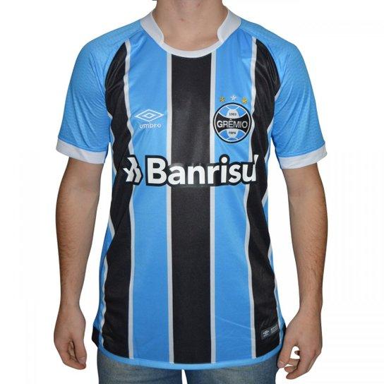 Camisa Gremio Umbro Mundial 2017 - Azul e Preto - Compre Agora ... 263d9841ec88e