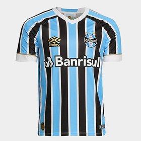 a899eb60d61cb Camisa Umbro Grêmio I 17 18 S Nº - Torcedor - Patch Campeão Copa do ...