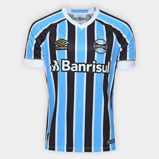 Camisa Grêmio I 18 19 S N° Jogador Umbro Masculina - Azul e Preto ... 2e92141e9301b