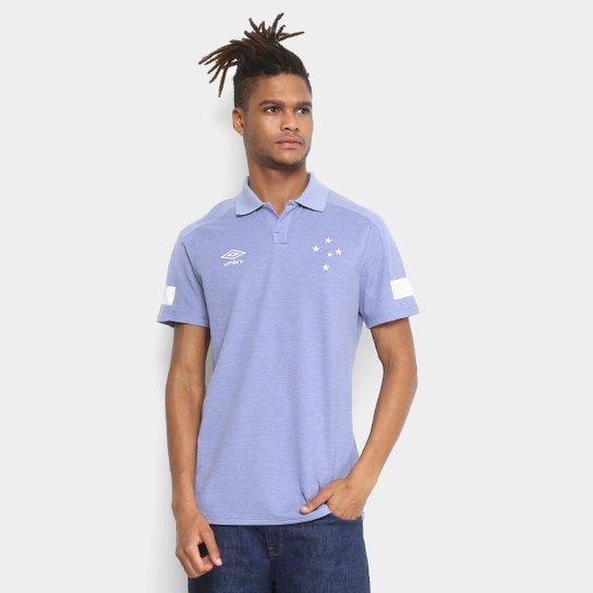 Camisa Polo Cruzeiro Viagem 2018 Umbro Masculina - Azul - Compre ... ff833b07ab0e2