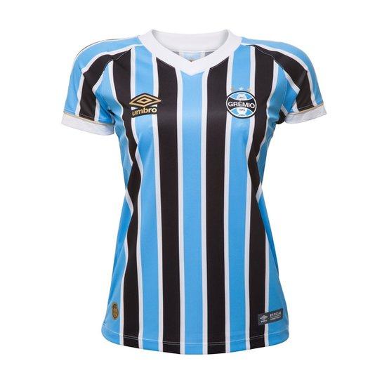 d96b55b5c2 Camisa Oficial Feminina Umbro Grêmio OF I 2018 - Compre Agora