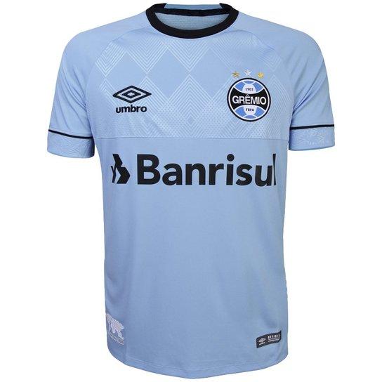 fa5b5b01f6 Camisa Umbro Masculina Grêmio Oficial Charrua 2018 Torcedor - Azul e ...