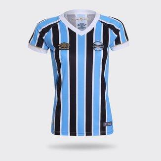 d62b6cd64 Camisa Umbro Grêmio I 2018 Tricolor Feminina