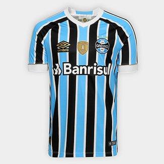 0c40d5670 Camisa Grêmio I 18/19 s/n° Torcedor Umbro - Patch Campeão Libertadores