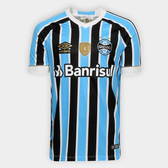 c21a1f6376 Camisa Grêmio I 18 19 s n° Torcedor Umbro - Patch Campeão Libertadores