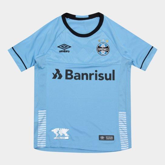 Camisa Gremio II Infantil 2018 s n° - Charrua Torcedor Umbro - Azul ... 6d4671fb4062a