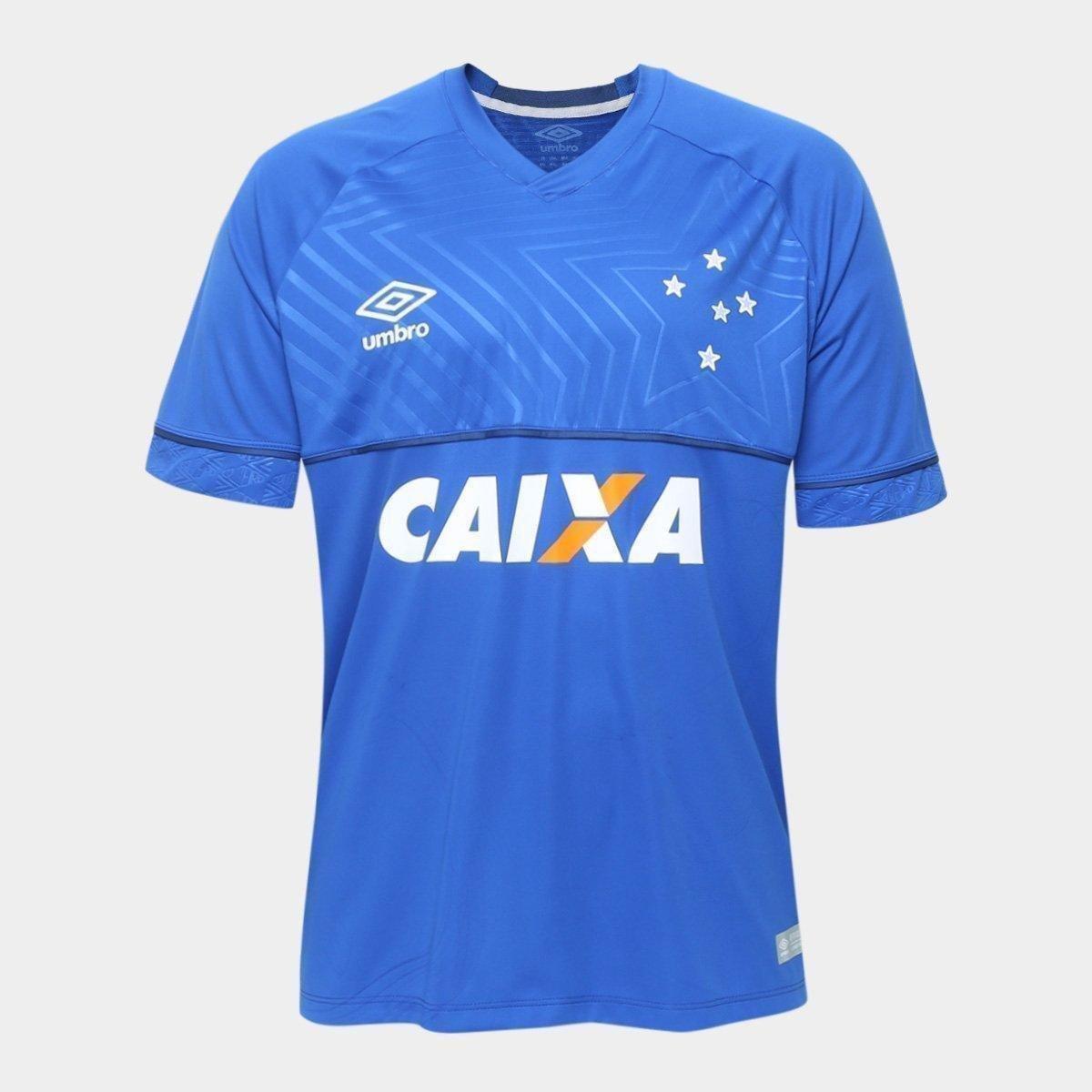 5c35fe6d0775a Camisa Cruzeiro I 18 19 s n° - Jogador Umbro Masculina