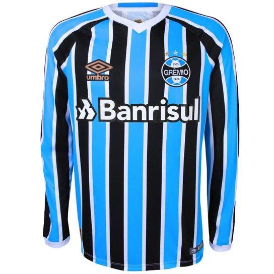 71844fc1fb3ed Camisa Umbro Masculino Grêmio Oficial I 2018 2019 Torcedor - Compre ...