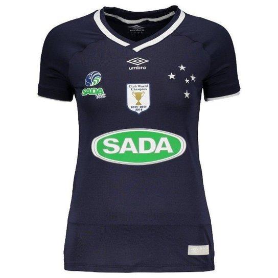 fc330ad754 Camisa Umbro Cruzeiro Vôlei I 2017 Feminina - Azul - Compre Agora ...