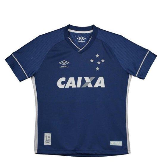 Camisa Umbro Cruzeiro III 2017 Juvenil - Azul - Compre Agora  6bd64ac1efdd2
