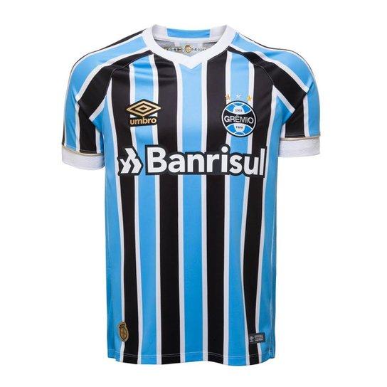 320963e6f5 Camisa Umbro Grêmio I 2018 N° 10 Jogador Masculina - Azul | Netshoes