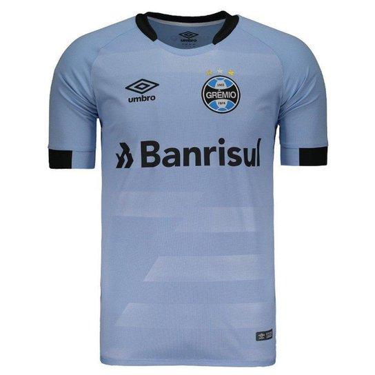 619f7c1ace Camisa Umbro Grêmio II 2017 N°7 Luan Masculina - Azul - Compre Agora ...