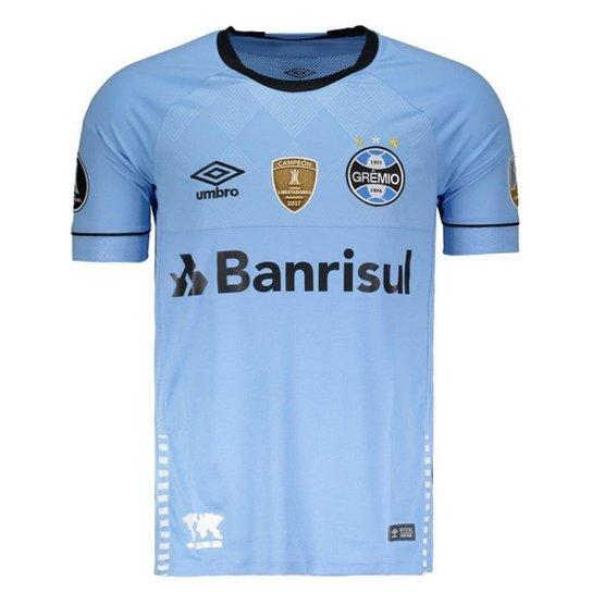 Camisa Umbro Grêmio II 2018 Charrua Libertadores Masculina - Azul ... daaeeb15b4057