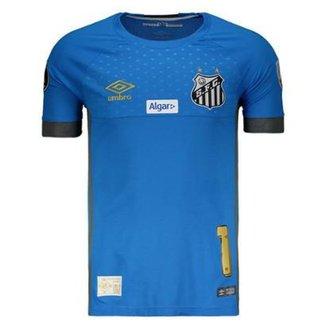Camisa Umbro Santos Goleiro 2018 N°1 Vanderlei Libertadores Masculina d9f9677cfd519