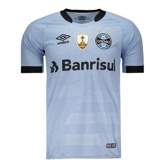 Camisa Umbro Grêmio II 2017 Jogador Libertadores Masculina - Azul ... c0fdc744e265a