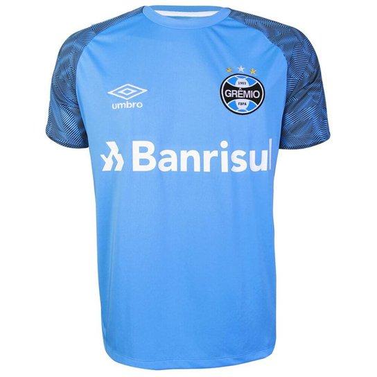 Camisa Umbro Grêmio Treino 2018 Masculina - Azul - Compre Agora ... e83d50867e35c