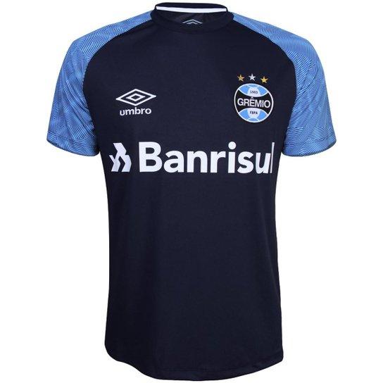 Camisa Umbro Grêmio Treino 2018 Masculina - Azul - Compre Agora ... 91f4b03dc181c