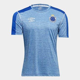 44744daaacf20 Camisa Cruzeiro 2019 Aquecimento Umbro Masculina