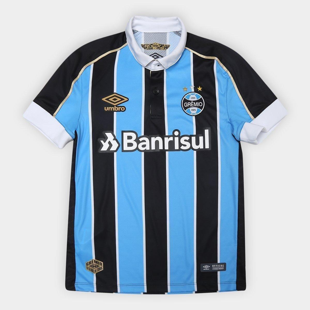 Camisa Grêmio Juvenil I 19/20 Umbro