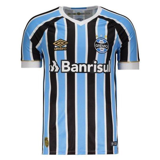 f996ef5adc32c Camisa Umbro Grêmio I 2018 11 Everton - Azul | Netshoes
