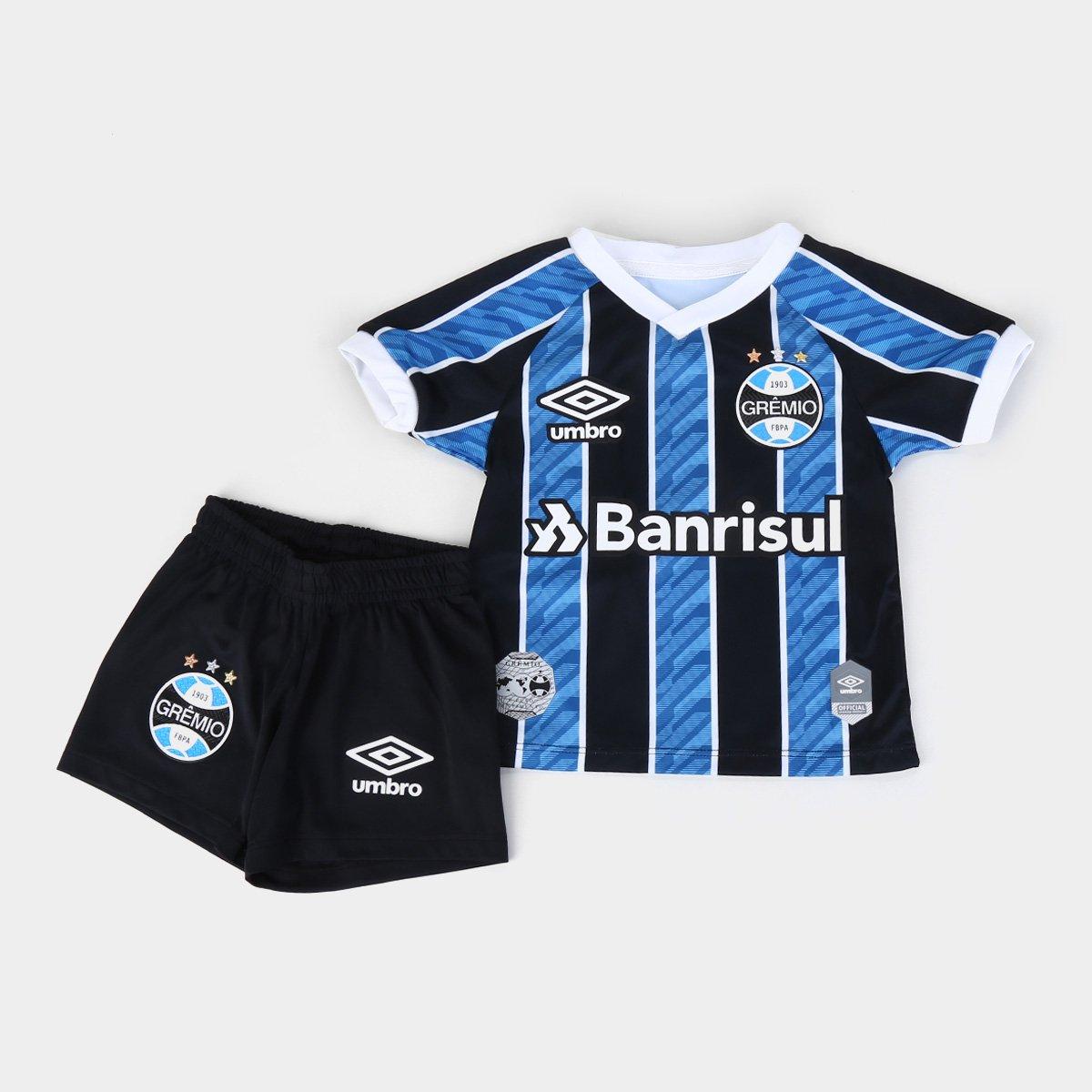 Kit Grêmio Infantil I 20/21 s/n° Torcedor Umbro