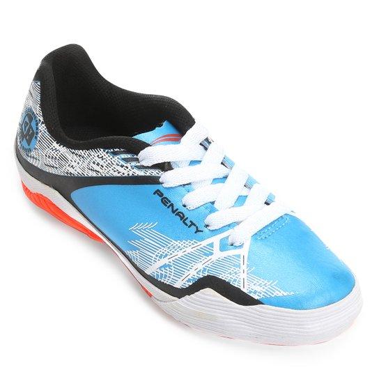 Chuteira Futsal Infantil Penalty ATF K Storm Zone 7 - Azul Turquesa+Preto 193e95c178493