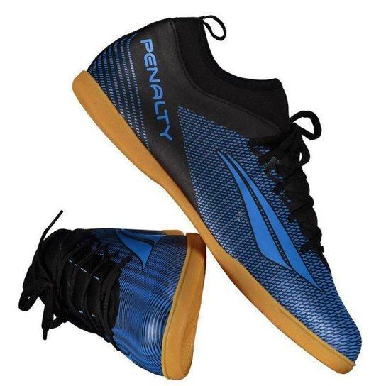 7e44b9f0c Chuteira Futsal Penalty STM Amazonas Locker VIII IN Masculina - Azul+Preto