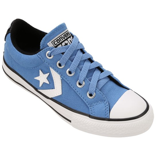 91a8c9ee10e Tênis Converse ALL STAR Player EV Infantil - Azul Claro+Branco ...