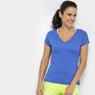 Compre Camiseta Feminina Fila Online  2e43b5345f233