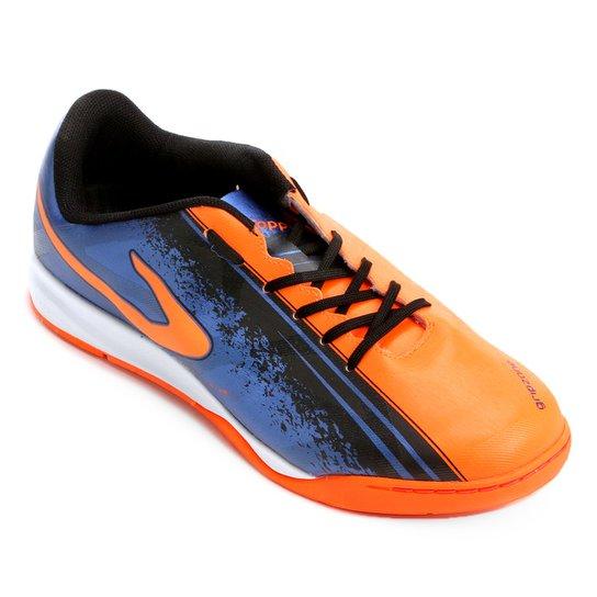 Chuteira Futsal Topper Trivela - Azul e Preto - Compre Agora  37fdce9628317
