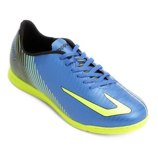 8bcc4a076afcb Chuteira Futsal Topper Ultra - Azul e Preto - Compre Agora