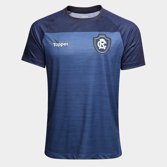 ab1d28920c Camisa de Treino Remo Topper Masculina - Azul - Compre Agora