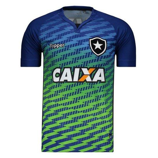 1ec08bd21c397 Camisa Topper Botafogo Goleiro I 2017 Masculina - Azul - Compre ...