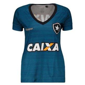 Camisa Topper Botafogo Treino Atleta 2017 Feminina 0406e8fb33fb1