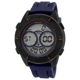 b3af16467df Relógio Masculino Mormaii Acqua MO150915AF 8L 51mm Azul Pulseira Silic.