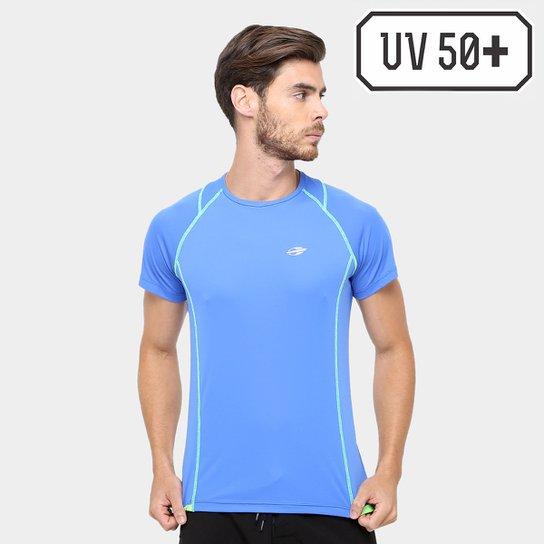 Camiseta Surf Mormaii Proteção UV 50+ Masculina - Azul - Compre ... 3054145d7e