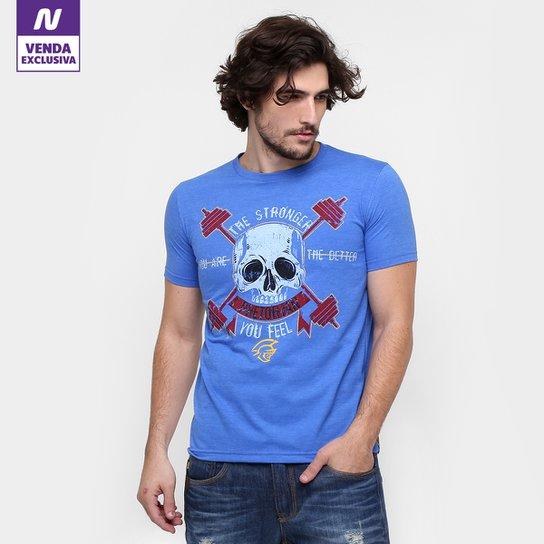 Camiseta Pretorian The Stronger Masculina - Azul - Compre Agora ... 3fed315971816