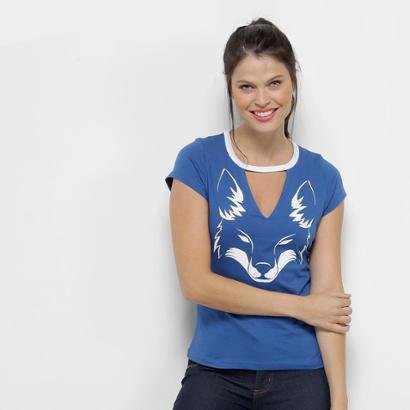 Camiseta Cruzeiro Choker Feminina