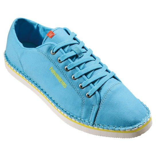f12b35c82 Alpargatas Havaianas Sneaker Layers Iii - Azul Turquesa
