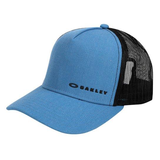 Boné Oakley Aba Curva Mod Chalten Cap Masculino - Azul - Compre ... 6f9b4a92c1d