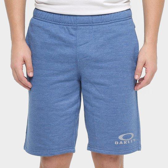Bermuda Oakley Logo Fleece Masculina - Azul - Compre Agora  af74a732272